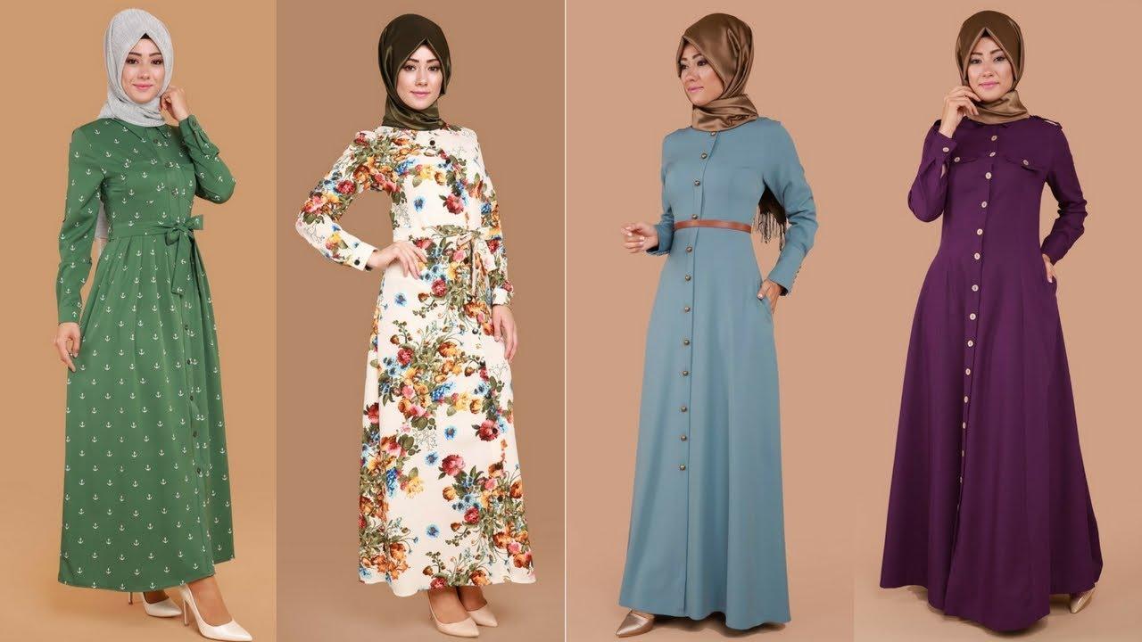 67f4cd866f9e8 Modaselvim 2017 Düğmeli Tesettür Elbise Modelleri 2/3 - YouTube