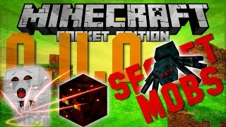 0.11.0 Secret Mobs!!! Ghasts, Magma Cubes, and Cave Spiders - Minecraft Pocket Edition -