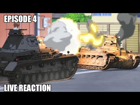 Girls Und Panzer Episode 4 Live Reaction