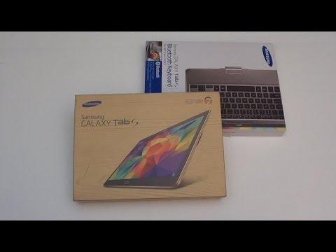 Samsung Galaxy Tab S 10.5 Unboxing Plus Bluetooth Keyboard 2016