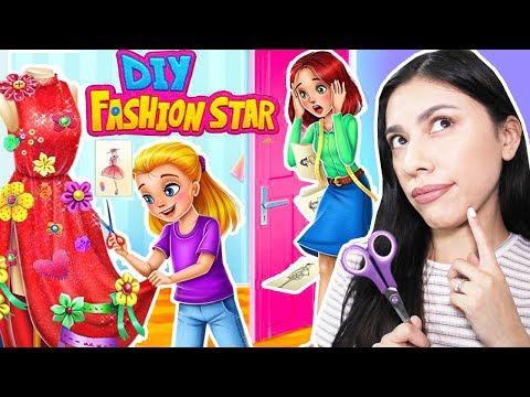 MY NEW YOUTUBE CHANNEL! - DIY Fashion Star - Design Hacks Clothing Game