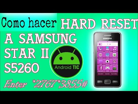 Reseteo completo (full reset) Samsung Star II