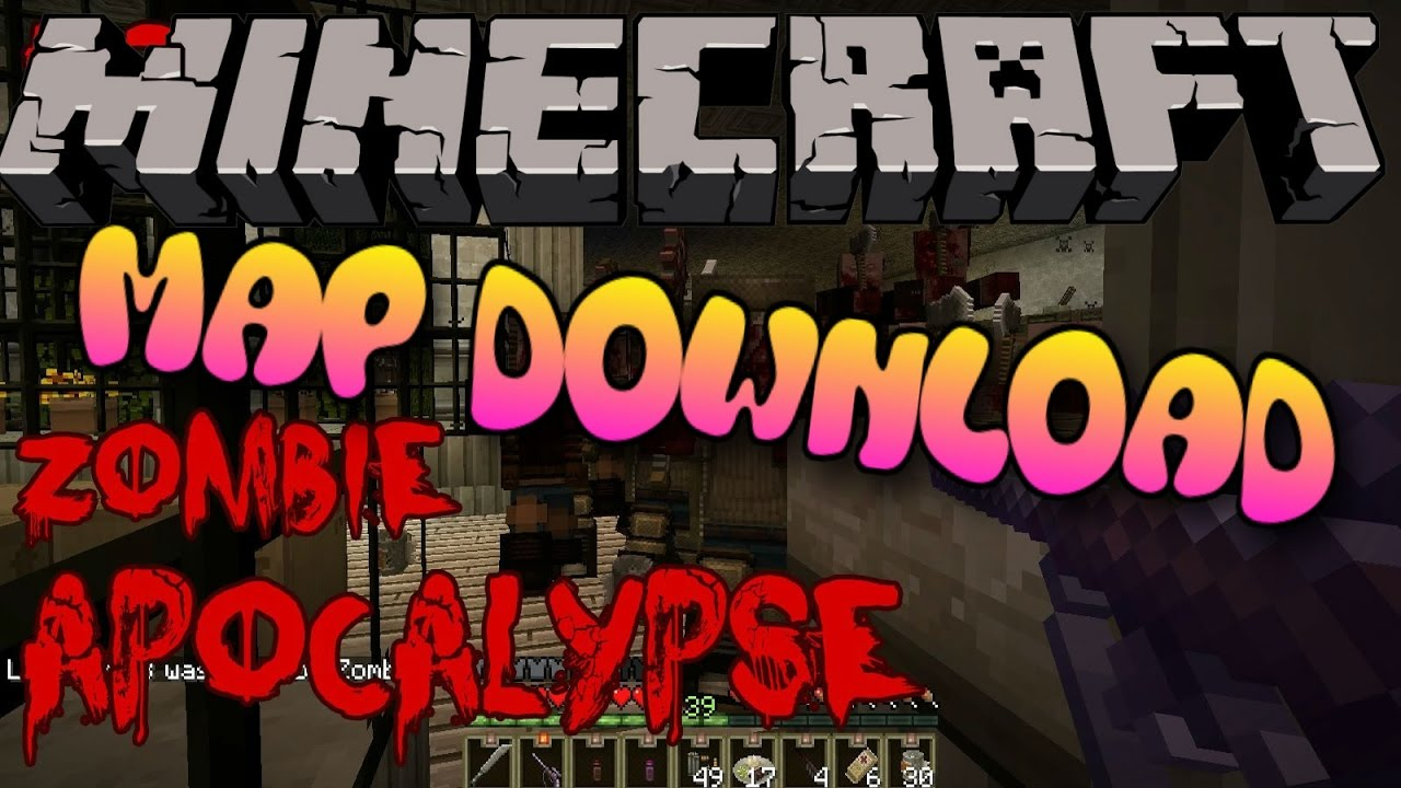 Minecraft PS3/PS4 Modded Zombie Apocalypse Map W/Download