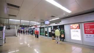 【韓国】 釜山都市鉄道(地下鉄)2号線 沙上駅 부산 도시철도 2호선 사상역 Busan Metro Line2 Sasang Station, Korea (2018.10)