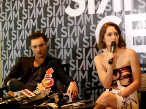 Ed Westwick & Leighton Meester Interview @ Siam Center In Bangkok