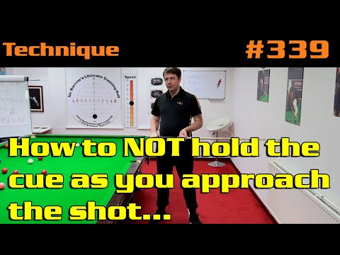 How To NOT Hold The Cue As You Approach The Shot…