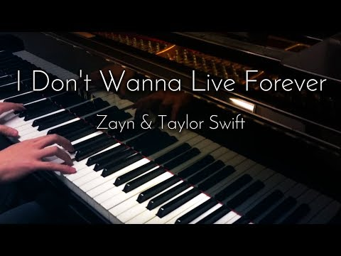 Zayn & Taylor Swift - I Don't Wanna Live Forever (Fifty Shades Darker) - Piano Cover