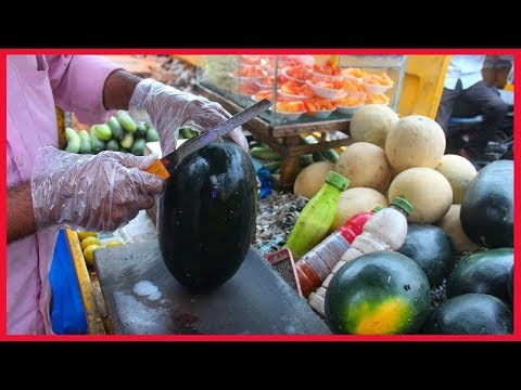 FRUIT NINJA of FRUITS | Amazing Fruits Cutting Skills | Indian Street Food In 2018