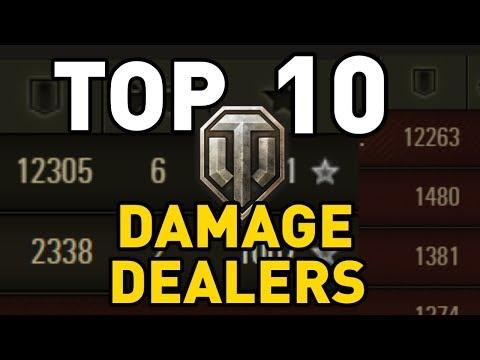 World of Tanks || Top 10: DAMAGE DEALERS