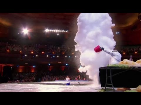 Nick The Scientist Storms Stage With EXPLOSIVE Act | Auditions 2 | America's Got Talent 2017