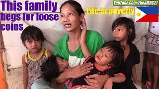 This Poor Filipina With 8 Children Begs For Loose Coins