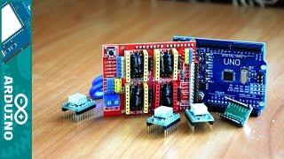 Долгожданная распаковка Arduino - CNC Shield v3 – ЧПУ станок НАЧАЛО - (Часть 1)