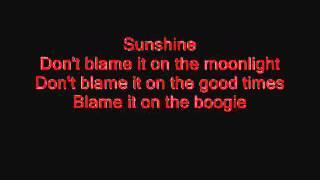 The Jacksons Blame it on the boogie lyrics