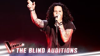 The Blind Auditions: Lee Harding sings 'Killing In The Name' | The Voice Australia 2019