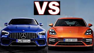 Porsche Panamera vs Mercedes AMG GT 63 s 4 door Coupe (2021) panamera 4s vs amg gt 63 s. (review)