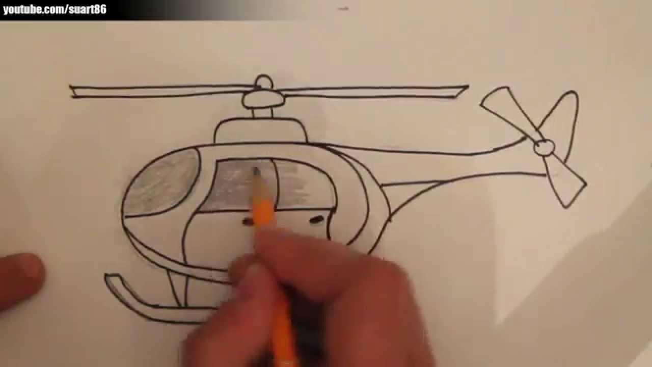 Como dibujar un helicoptero - YouTube