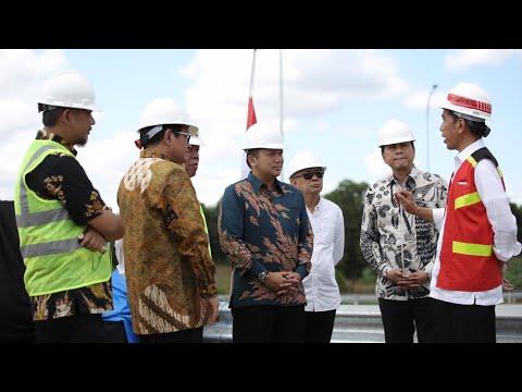 Gubernur Ridho Dampingi Jokowi Tinjau Jalan Tol Ruas Bakauheni - Terbanggi Besar