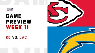 Kansas City Chiefs vs Los Angeles Chargers Week 11 NFL Game Preview