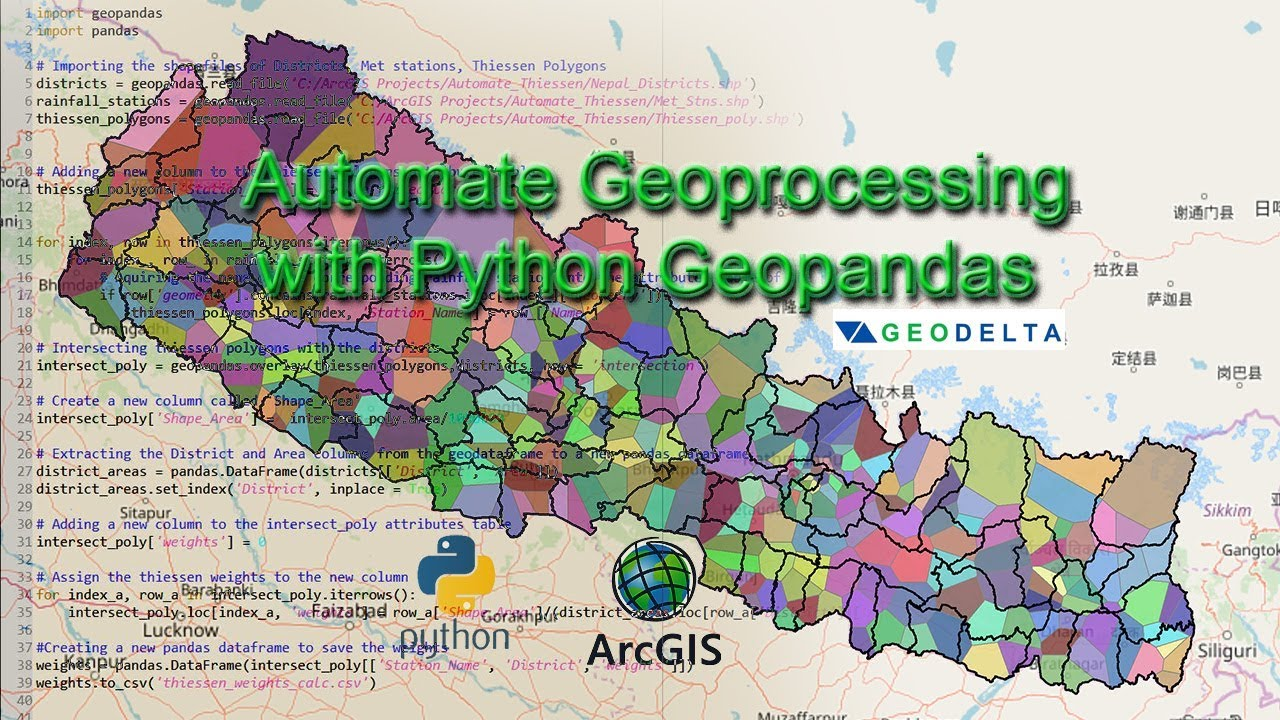 Automating Geo-processing tasks with GeoPandas and Python Scripting  (Thiessen Weights Computation)