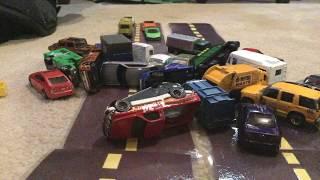 Massive Pile up Crash On Highway 420 (Car Crash Stop Motion)