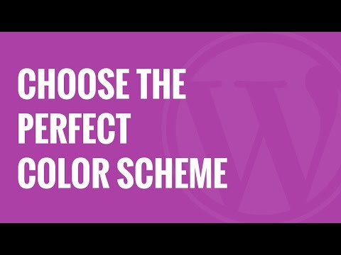 How to Choose a Perfect Color Scheme for Your WordPress Site - 동영상