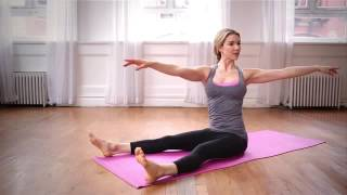 Pilates with Kristin McGee 20 minutes to flat abs, toned arms and lean thighs.