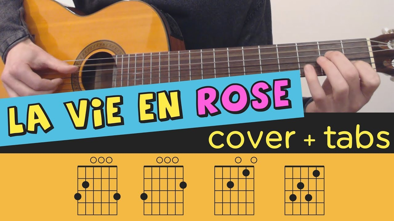 La Vie En Rose Guitar Cover Lesson Fingerstyle Tutorial