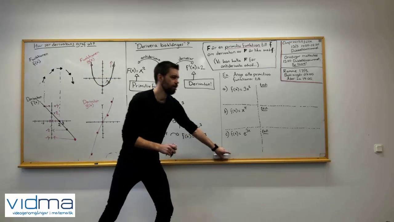 Matematik 3: HITTA PRIMITIV FUNKTION, INTRODUKTION