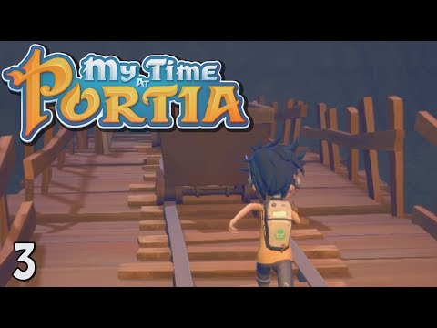 My Time At Portia - Jetpack Mining! (Alpha Gameplay Ep 3)