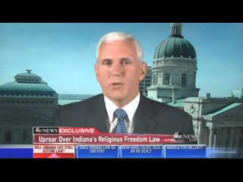 Pence: Indiana Being Subjected to Avalanche of Condemnation & Intolerance over Religious Freedom