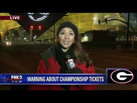 Warning about National Championship tickets