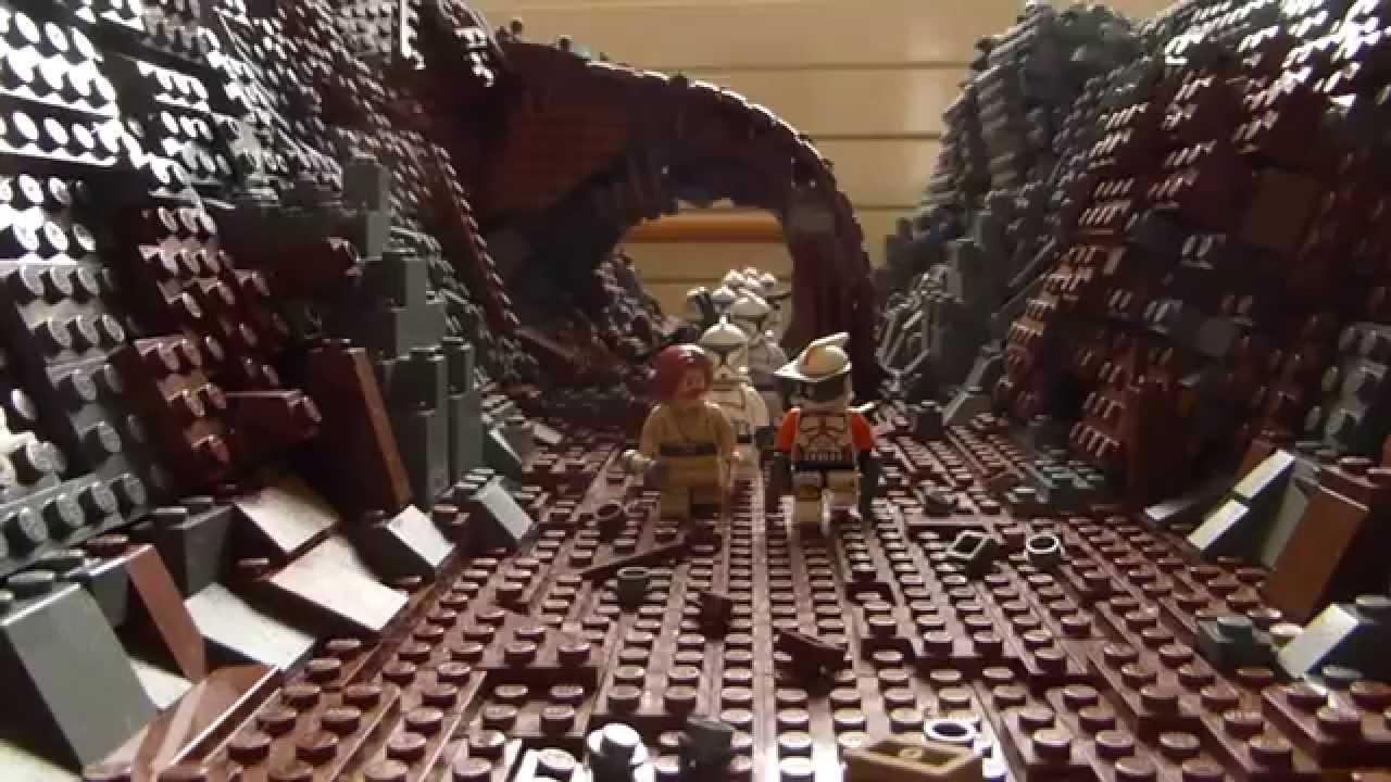 レゴ スターウォーズ ジオラマ 崖の谷間の道
