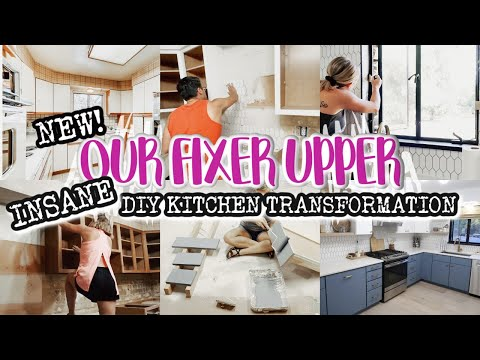 RENOVATING OUR RANCH FIXER UPPER | INSANE KITCHEN TRANSFORMATION | DIY KITCHEN | BEFORE AND AFTER - Denise Bangiyev