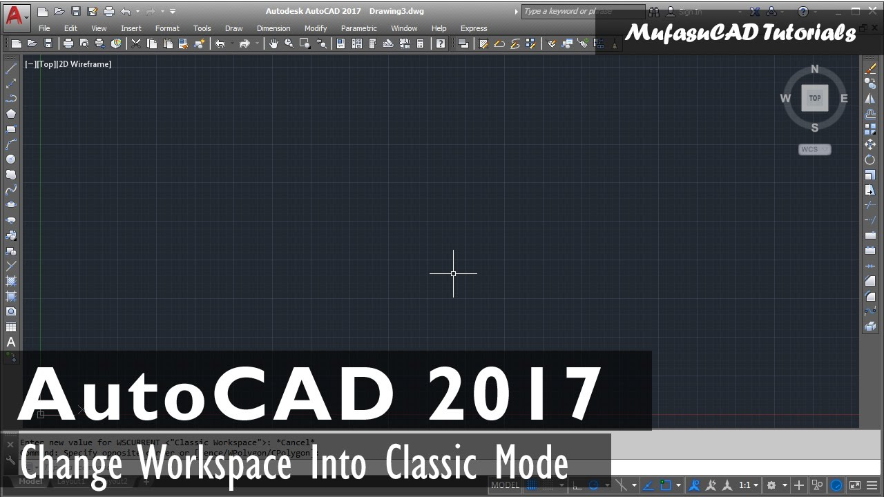 Autocad 2d In 3d Umstellen Recreate Autocad 2017 Classic Workspace Video