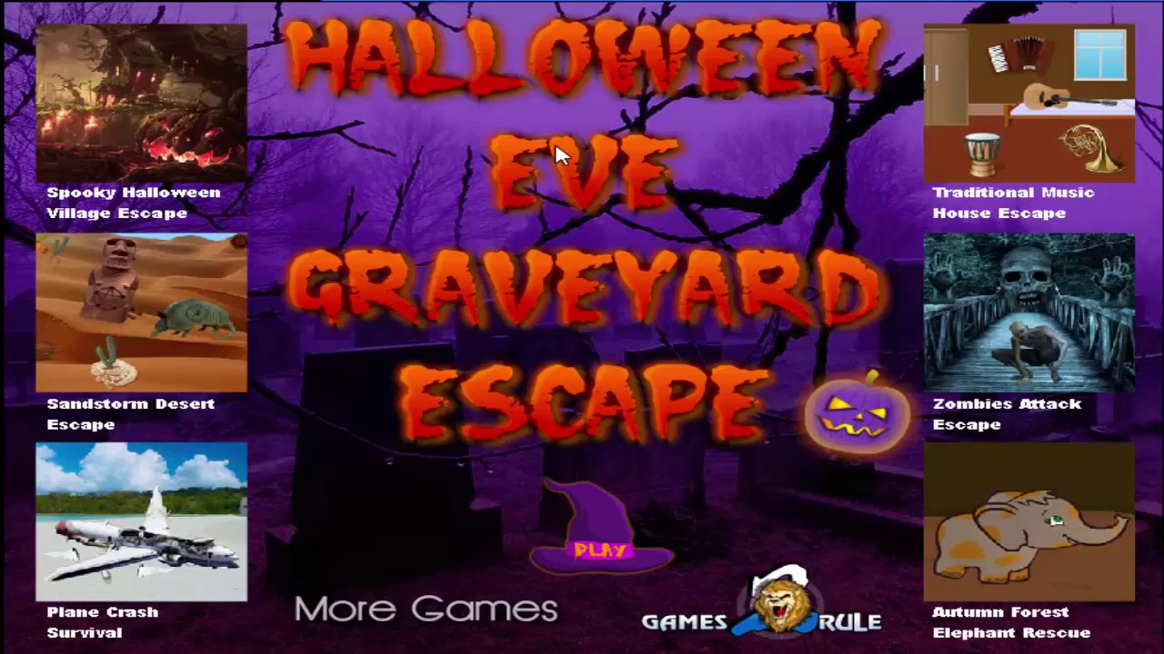 Halloween Eve Graveyard Escape Walkthrough Games2rule