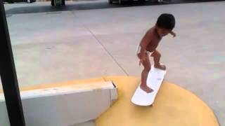 Two year old skateboarder shows his skills -- video   Life and style   theguardian com