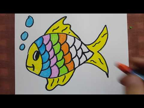 Haydi Beraber Balık Çizelim Ve Boyayalım :)