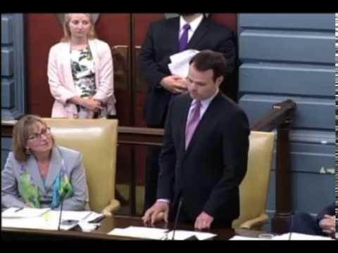 Eric Lesser Gives Maiden Speech on Massachusetts Senate Floor