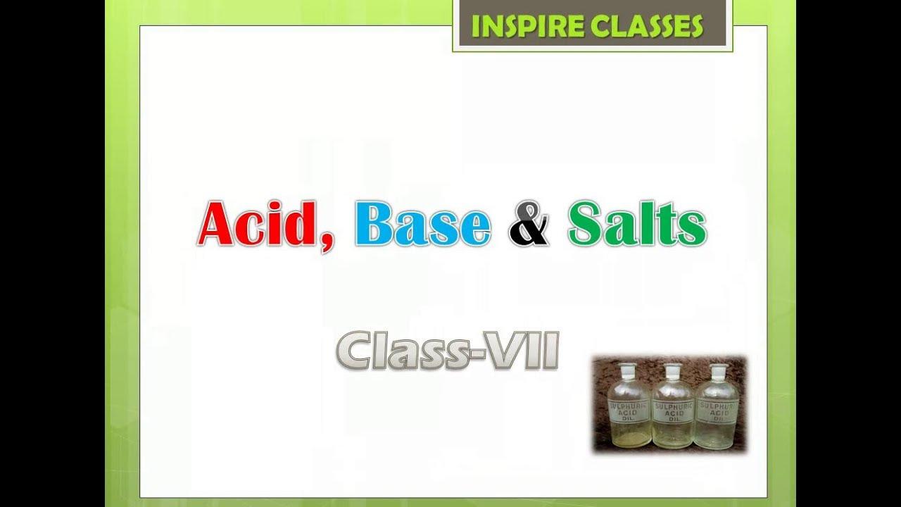 Acids, Bases and salts (class7) hindi /english - YouTube