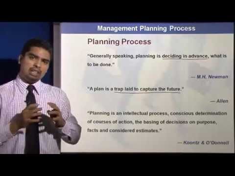 Planning Process || Elements of Planning || Planning in Management Lectures