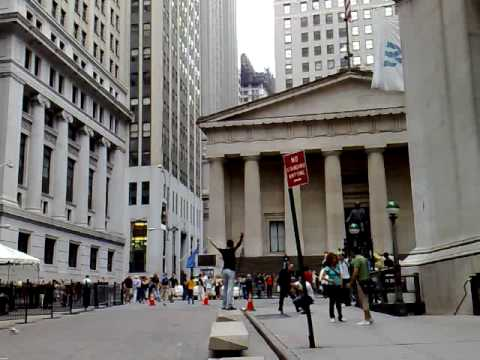 New York Stock Exchange in Manhattan, NYC. Wall Street (Broad Street).