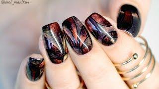 видео Дизайн ногтей гель-лаком Кошачий глаз