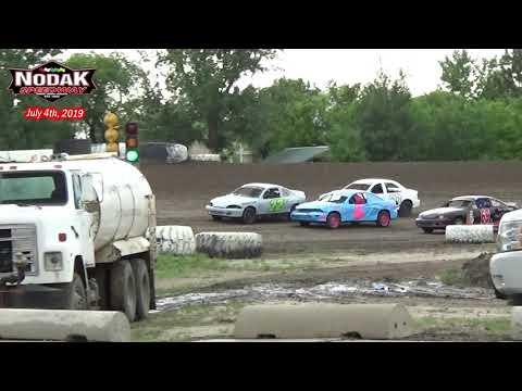 Nodak Speedway IMCA Sport Compact Heats (7/4/19)