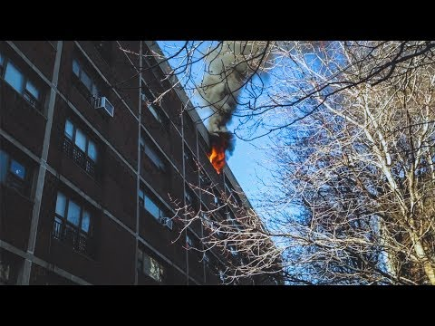 FDNY - Box 0348 - Fire Top Floor in Williamsburg, Brooklyn 1/17/15