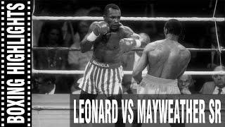 Sugar Ray Leonard vs Floyd Mayweather Sr Highlights
