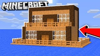 How to Make an EASY House on WATER in Minecraft!