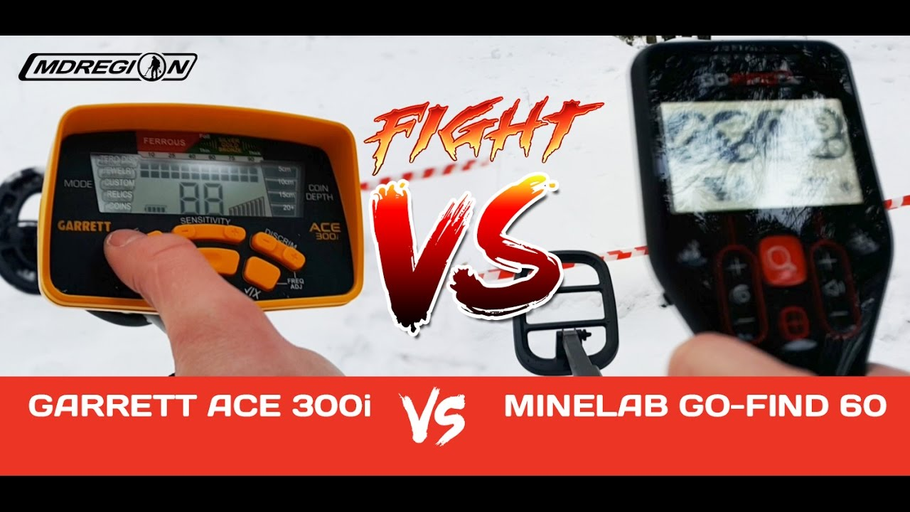 Garrett ace 300i vs minelab go-find 60 / битва металлодетект.