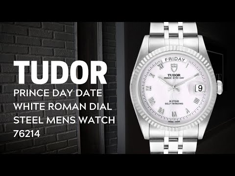 Tudor Prince Day Date White Roman Dial Steel Mens Watch 76214 Review | SwissWatchExpo