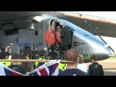 Solar Impulse Arrival (Un-Edited)