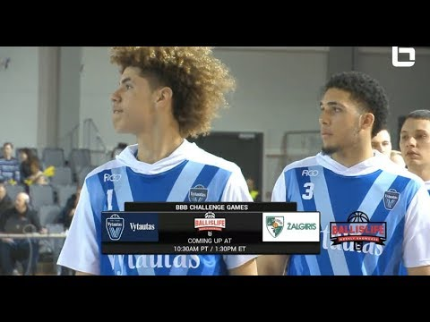 LiAngelo Ball & LaMelo Ball First Lithuanian Game Then & Now Highlights from Chino Hills